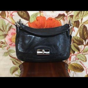 Coach Kirstin Hobo Black Leather Shoulder Bag